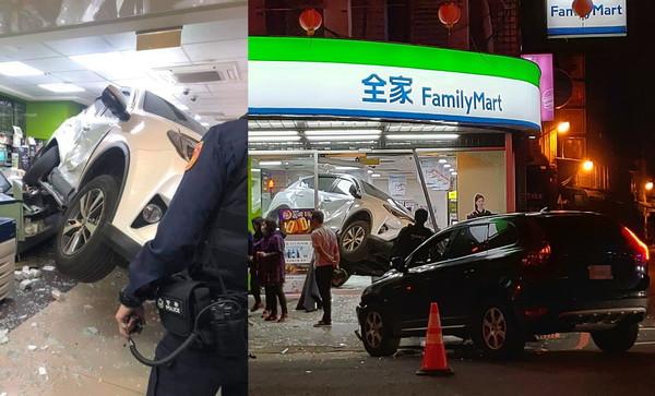 白休旅車撞進超商「斜45度卡櫃檯」原因曝 肇事黑車馬尾妹抱狗:我闖紅燈