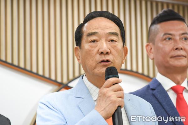 ▲親民黨公布不分區立委名單,黨主席宋楚瑜。(圖/記者林敬旻攝)