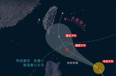 鳳凰颱風大轉向!急接近東部近海北上