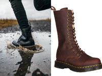 史上最潮雨靴!Dr. Martens14孔「美腿神器」保暖防水一次到位