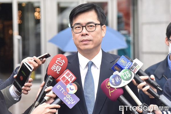 ▲陳其邁出席Facebook數位公民行動教室活動。(圖/記者李毓康攝)
