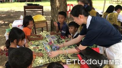 設計師做公益 柬埔寨孩童揮灑生命色彩