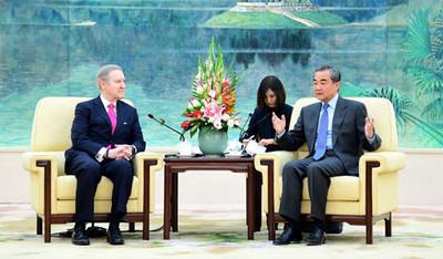 王毅見美前防長批香港人權與民主法案