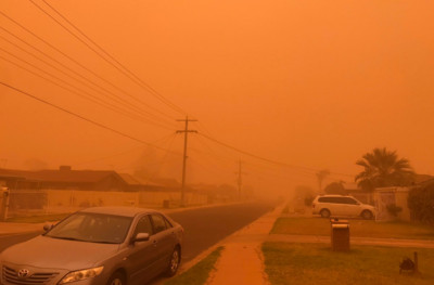 澳洲血色天空 沙塵暴40℃狂風襲