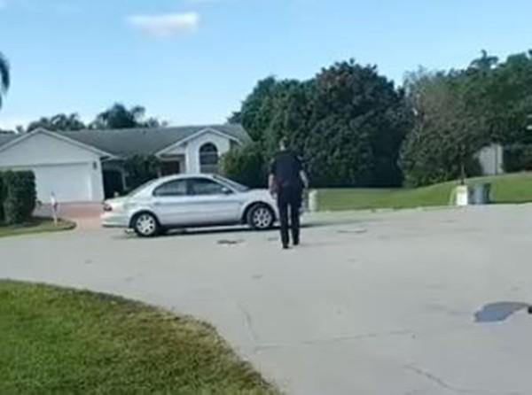 ▲▼轎車原地旋轉1h!警傻眼:駕駛是狗。(圖/翻攝自Port St. Lucie Police Department臉書)