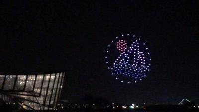 無人機群飛競賽故宮南院星光燦爛