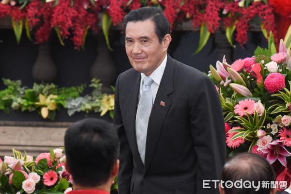▲前總統馬英九出席艋舺龍山寺建寺280週年紀念。(圖/記者林敬旻攝)