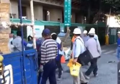 施工方式爆衝突 台中工人打群架