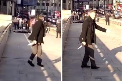 倫敦橋攻擊 英雄西裝男壓制嫌犯奪刀