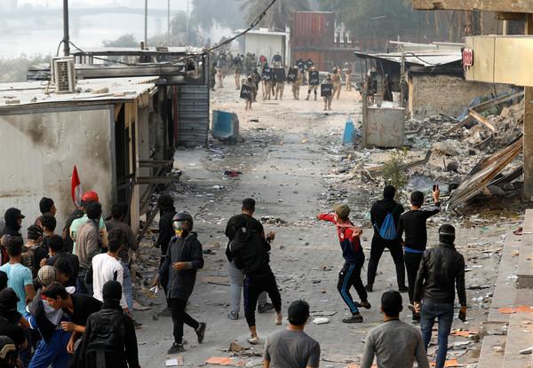 ▼伊拉克十月份起爆發反政府示威。(圖/路透)