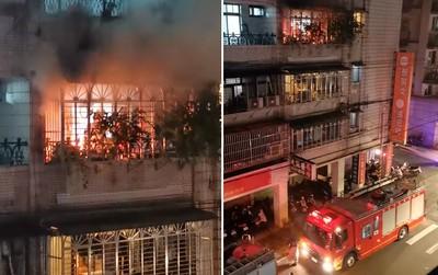 公寓陽台燒金紙! 「嗆煙猛火」險釀火燒厝