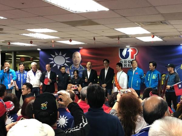 ▲▼韓國瑜出席全國體育界力挺韓國瑜暨體育政策發佈會 。(圖/韓國瑜競選辦公室提供)