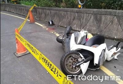 快訊/烏來騎士疑過彎自撞護欄身亡
