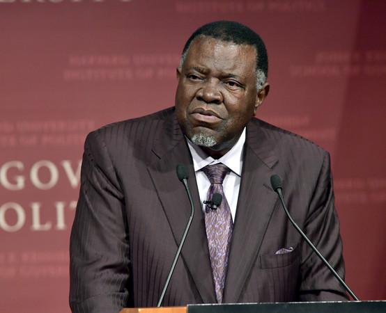 ▲納米比亞(Namibia)總統根哥布(Hage Geingob)。(圖/達志影像/美聯社)