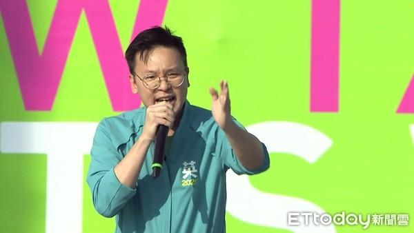 ▲蔡英文新北競選總部成立大會,林飛帆致詞。(圖/攝影中心攝)