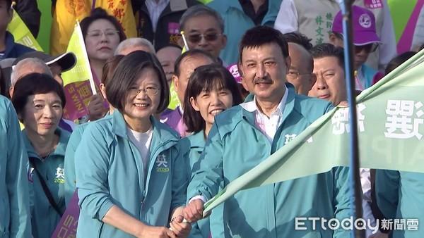 ▲蔡英文新北競選總部成立大會。(圖/攝影中心攝)