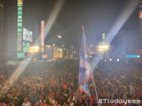▲主辦單位宣布現場參與人數達3萬人。(圖/韓國瑜競選辦公室提供)