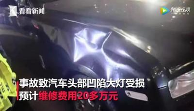 載友逆向闖紅燈 撞勞斯萊斯賠20萬人民幣