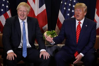 川普赴倫敦 強生求別亂講話