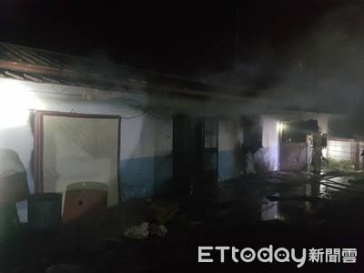 台南白河三合院民宅傳疑縱火