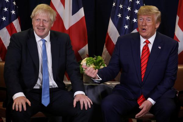▲▼英國首相強生與美國總統川普。(圖/路透)