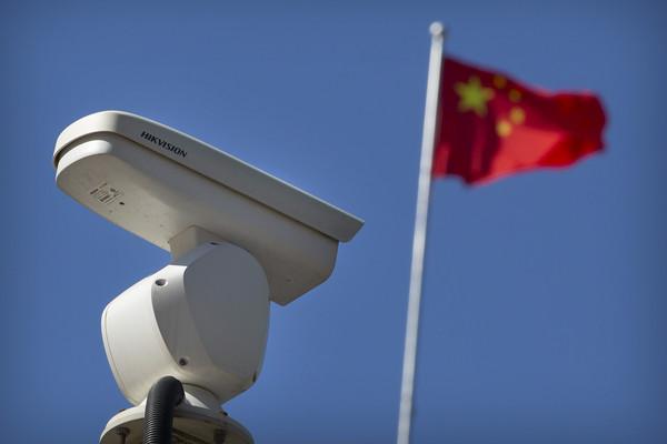 ▲▼中國監視器廠牌海康威視(Hikvision)。(圖/達志影像/美聯社)
