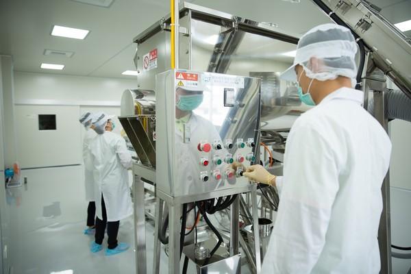 ▲達邦蛋白新建的中國大陸漳州廠第一條產線。(圖/達邦蛋白提供)
