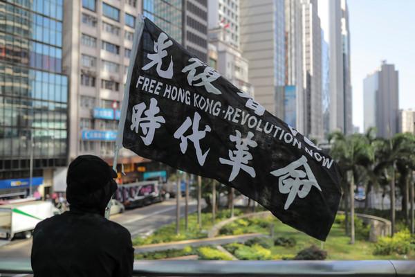 ▲▼香港人感謝川普簽署《香港人權與民主法案》。(圖/路透)