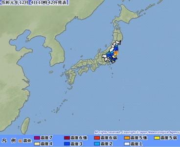 茨城再規模4.8地震 深度10公里
