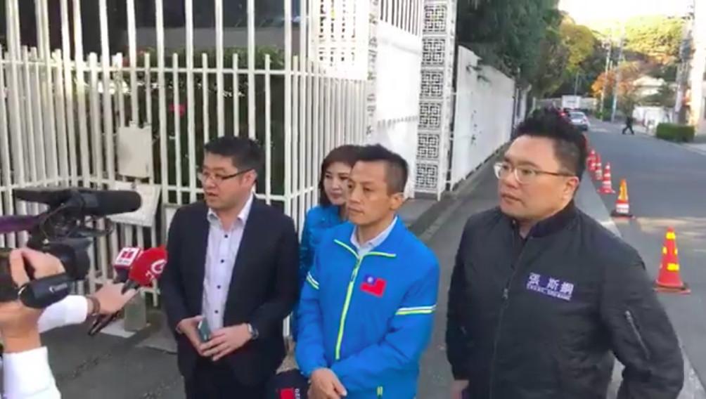 ▲▼北市議員赴日找謝長廷陳情。(圖/翻攝張斯綱臉書)