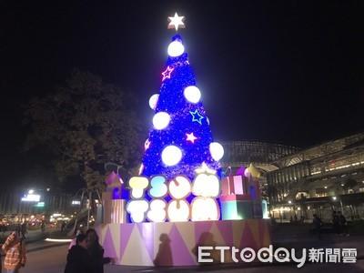 臺中「耶誕夢想世界」3日試點燈