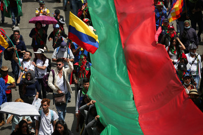 哥倫比亞爆發第三波全國性罷工
