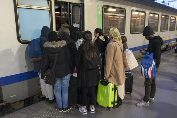 ▲▼法國地鐵,法國鐵路,法國罷工。(圖/達志影像/美聯社)
