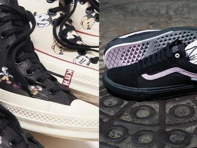 米奇躍上Converse小白鞋
