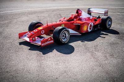 蘇富比拍賣舒馬克「F2002」冠軍賽車 2億售價含重建引擎!