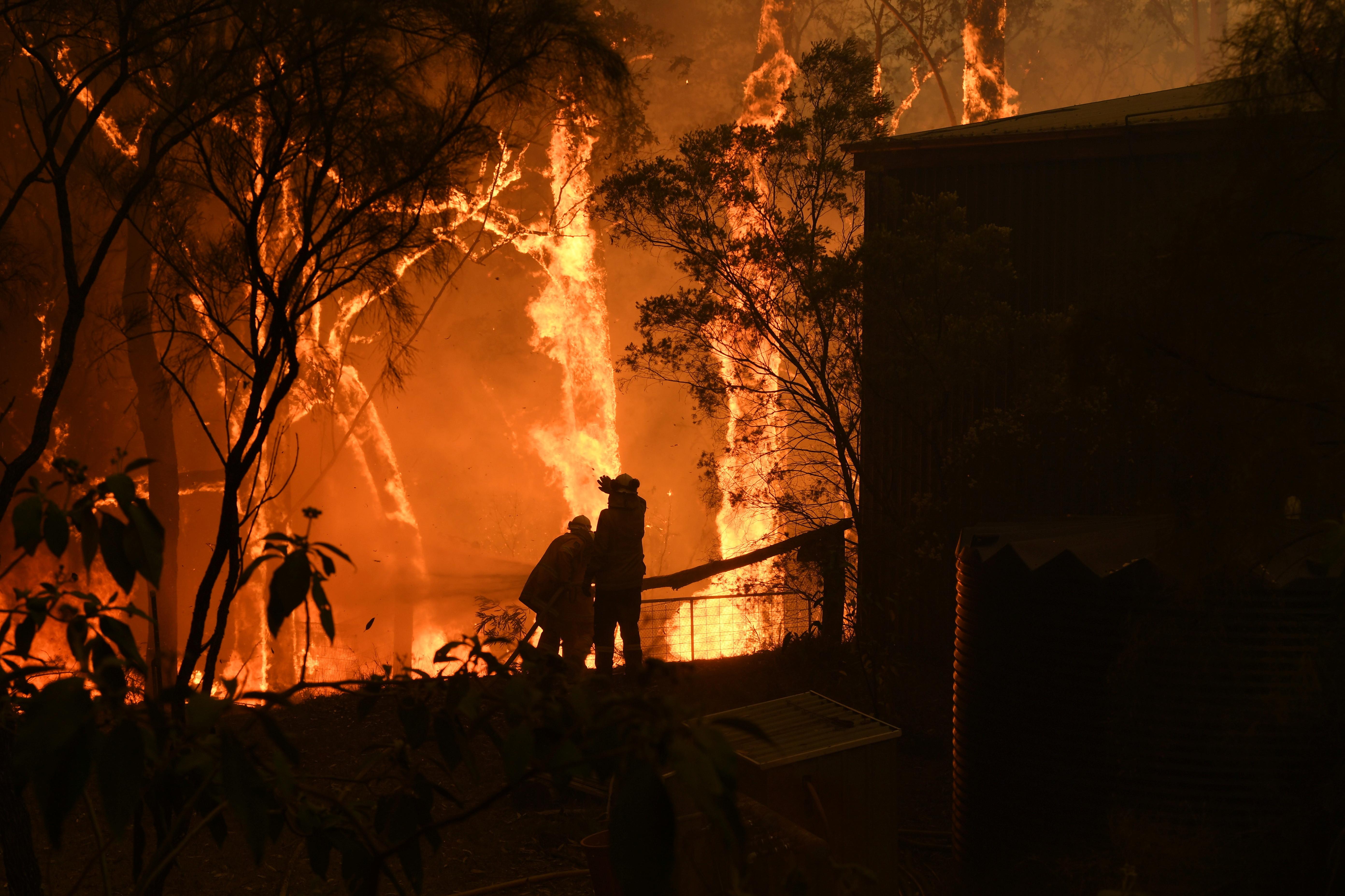 ▲▼澳洲新南威爾士州(New South Wales)大火,雪梨3起大火燒成一場「特大火災」,面積超過30萬公頃。(圖/路透)