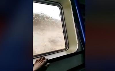 巨浪狂打 渡輪乘客尖叫爆哭