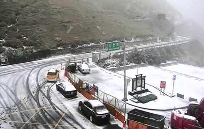 合歡山下雪!銀白世界讓民眾瘋狂