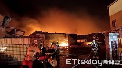 台南永康工廠暗夜傳火警
