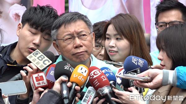 ▲▼柯文哲出席李旻蔚競選總部成立,柯文哲與蔡璧如聯訪。(圖/記者葉南州攝)