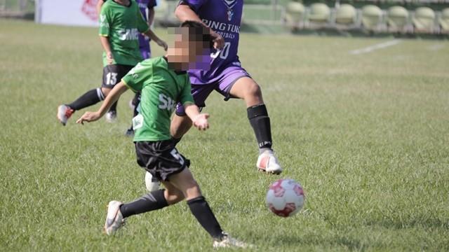 ▲▼台南市石門國小足球隊。(圖/記者張克銘攝)