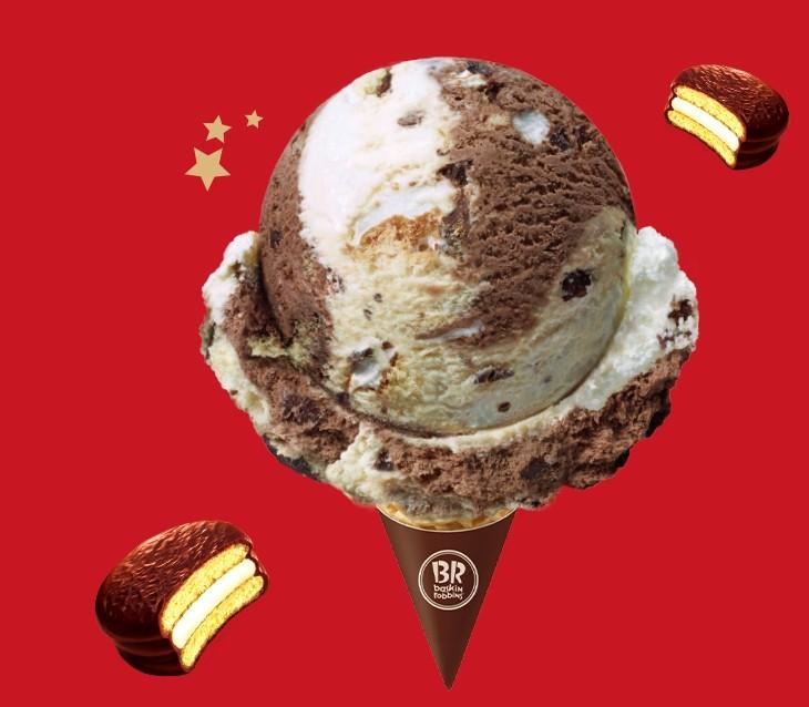 ▲31冰淇淋 X 情 巧克力派。(圖/翻攝自31冰淇淋IG)