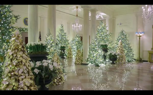 ▲ 今年白宮聖誕節主題是「美國精神」。(圖/翻攝自YouTube/The White House)
