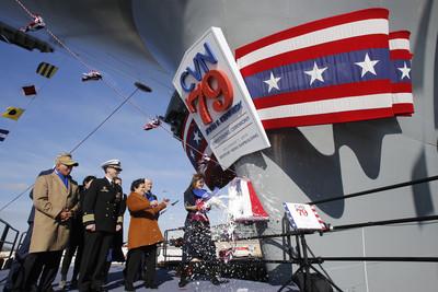 美航母「甘迺迪號」命名儀式