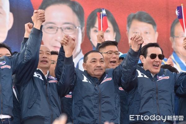 ▲▼侯友宜出席韓國瑜新北市競選總部成立造勢大會。(圖/記者李毓康攝)
