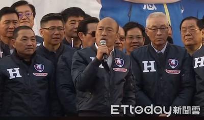韓國瑜:蔡英文放任派系吃台灣人肉喝台灣人血