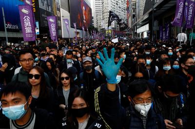 港警:人權日遊行大致和平