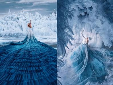 艾莎的冰雪魔法綻放在貝加爾湖畔
