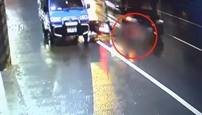 保全自撞倒地又遭後車輾過亡