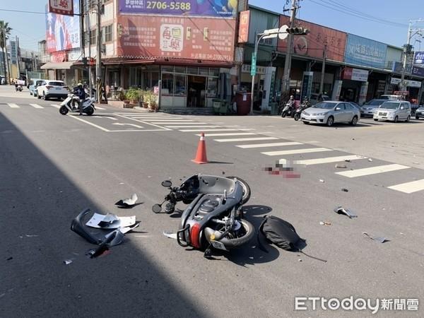 ▲▼19歲女大生騎Gogoro與左轉轎車相撞 大量失血送醫急救不治。(圖/民眾提供)